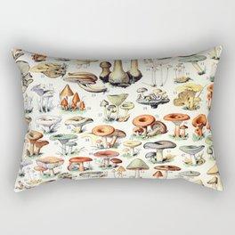 Adolphe Millot - Champignons B - French vintage poster Rectangular Pillow