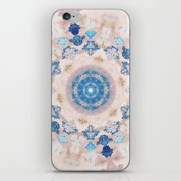 Cream Rose Mandala iPhone Skin