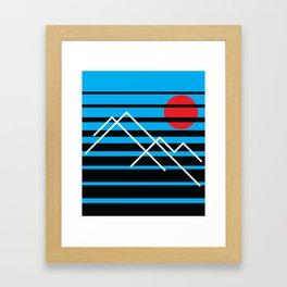 Peaks Framed Art Print
