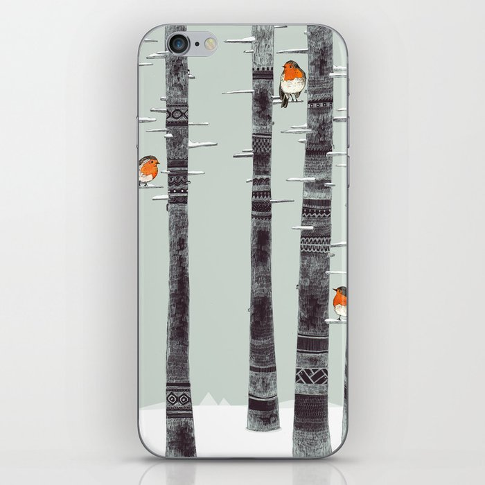 Robin Trees iPhone Skin