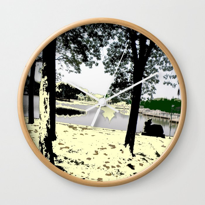A Pleasant Day Wall Clock