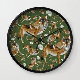 Totem Carpathian wolf Wall Clock