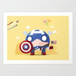 Chubby Captain  Art Print