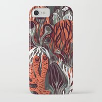 mushrooms iPhone & iPod Cases featuring Mushrooms by pam wishbow