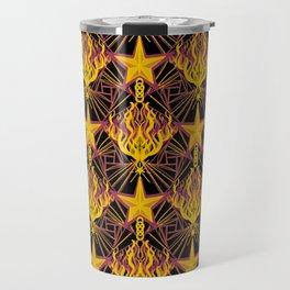 Starfire Kaleidoscope (Glowing Embers of the Sun) Travel Mug