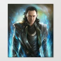 loki Canvas Prints featuring Loki  by EternaLegend