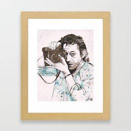 Gainsbourg Ink Framed Art Print