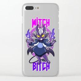 Witch B^tch JUDAS Clear iPhone Case