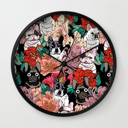 Because French Bulldogs Wall Clock