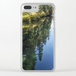 A Watery Avenue of Trees Clear iPhone Case