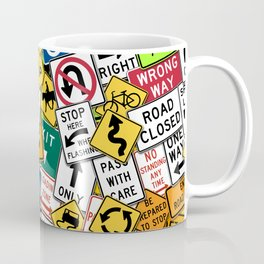 Street Signs Collage Coffee Mug