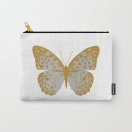 Silver Butterfly Carry-All Pouch