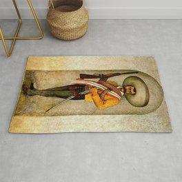 """Zapata"" by Diego Rivera Rug"