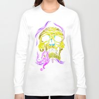 gore Long Sleeve T-shirts featuring SKULL-GORE by scarecrowoven