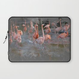 Flamingos in the pond. Laptop Sleeve
