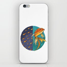 Goldfish & Goldfish School iPhone Skin
