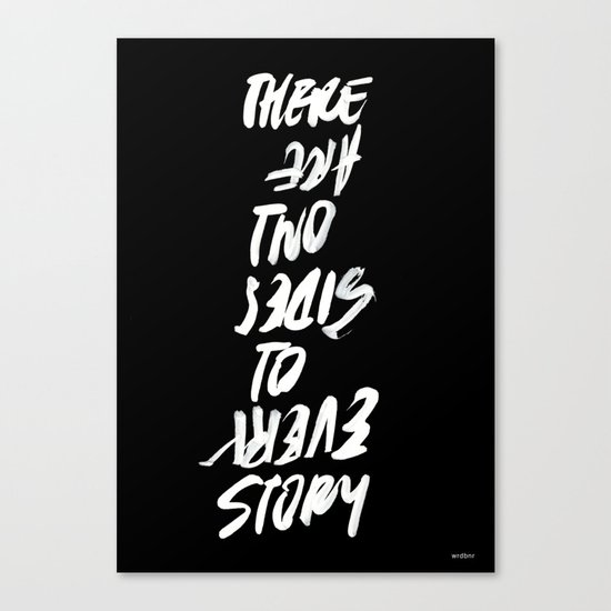 TWO SIDES Canvas Print