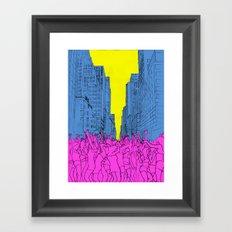 living for the city Framed Art Print