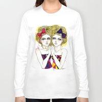 gemini Long Sleeve T-shirts featuring Gemini by D.U.R.A