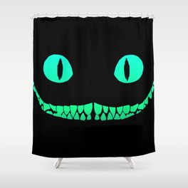 Cheshire black smile Shower Curtain