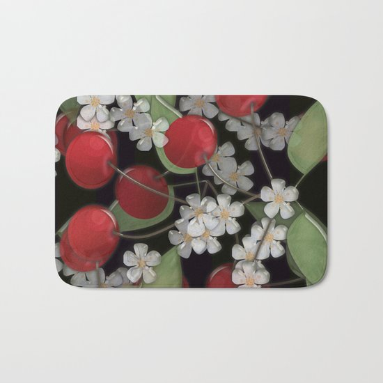 Cherry Charm, Imitation of glass Bath Mat