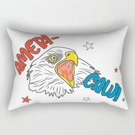 Independence Day Merica Bald Eagle Rectangular Pillow