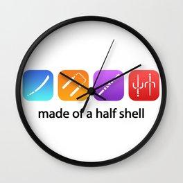 TMNT made of a half shell Wall Clock