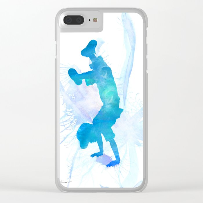 10836 The Handstand Clear iPhone Case