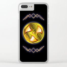 Triskelion Mystery Clear iPhone Case