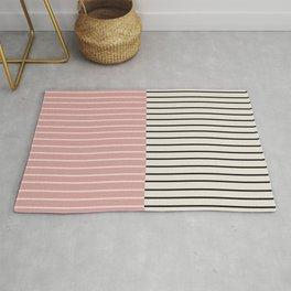 Color Block Lines XIV Vintage Pink Rug