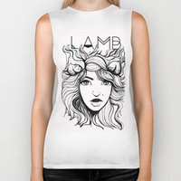 lamb Biker Tanks featuring LAMB by hearttylee
