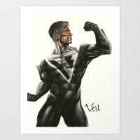 man of steel-b beyond Art Print