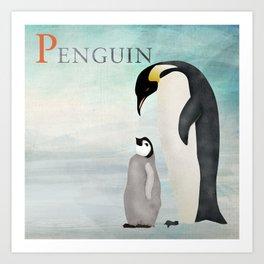 ABC Poster P - Penguin Art Print