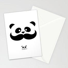 Moustache Panda Hug Stationery Cards