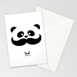 Moustache Panda Hug Stationery Cards