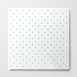 Small Aqua Polka Dots Metal Print