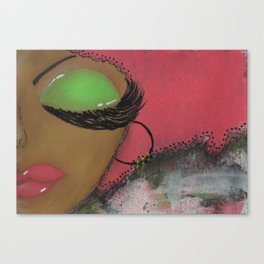 Pink and Green Sassy Girl Canvas Print