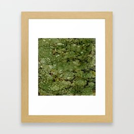 Green Camo Framed Art Print