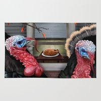 thanksgiving Area & Throw Rugs featuring Thanksgiving by Stevie Ray Thompson