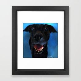 Little Black Doggie Framed Art Print