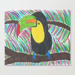 Colorful Tropical Toucan Canvas Print