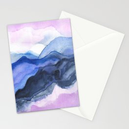 Mountain Abstract Watercolor Stationery Cards