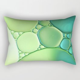Jade Ombre Bubbles Rectangular Pillow
