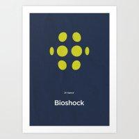 bioshock Art Prints featuring 2K Games' Bioshock by Lechaftois Boris (LBö)