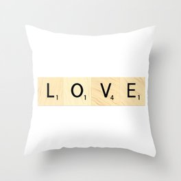 LOVE - Scrabble Letter Tiles Art Throw Pillow