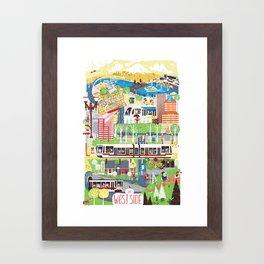 Portland West Side Framed Art Print