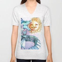 Eclipse Dragon Sun Eater Unisex V-Neck