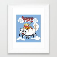 appa Framed Art Prints featuring Airbender Time by Kari Fry