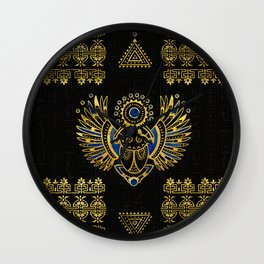 Egyptian Scarab Beetle Wall Clock