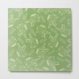 Hobby Horse (Green) Metal Print